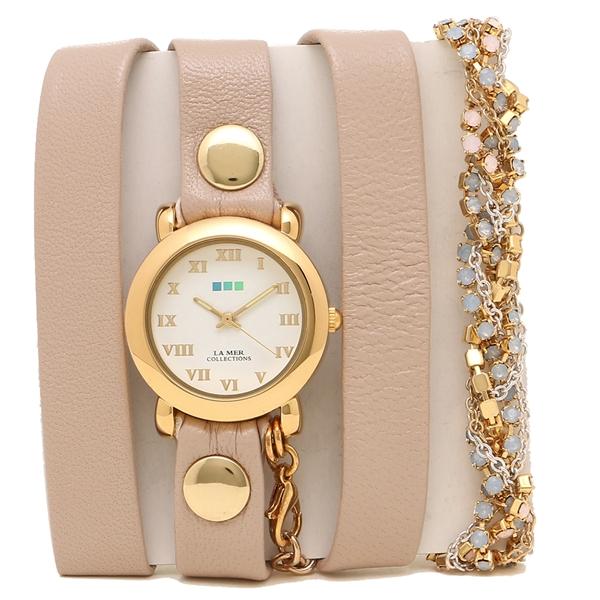 LA MER COLLECTIONS 腕時計 レディース ラメール コレクションズ LMMULTI6000B ピンク ゴールド ホワイト