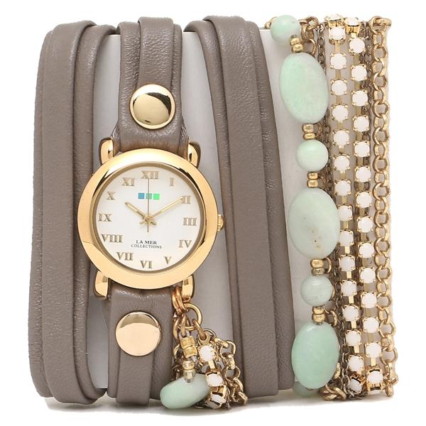 LA MER COLLECTIONS 腕時計 レディース ラメール コレクションズ LMMULTI7005 ダークブラウン ゴールド ホワイト