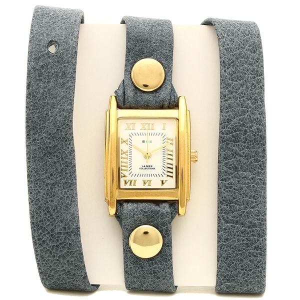 LA MER COLLECTIONS 腕時計 レディース ラメール コレクションズ LMSTW9012 ブルー ゴールド ホワイト
