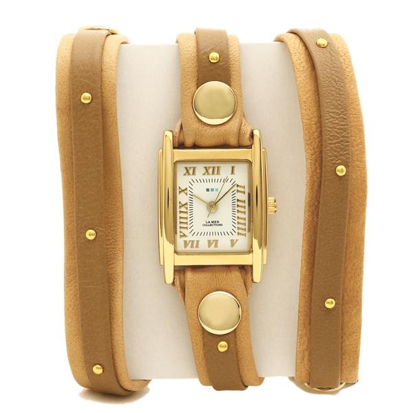 LA MER COLLECTIONS 腕時計 レディース ラメール コレクションズ LMSW2002 ブラウン ゴールド ホワイト