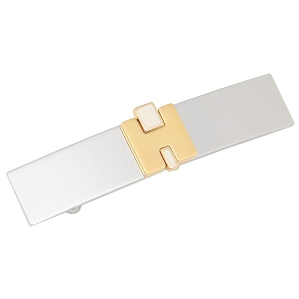 HERMES バレッタ アクセサリー レディース エルメス H320002FP 49 ホワイト ゴールド シルバー