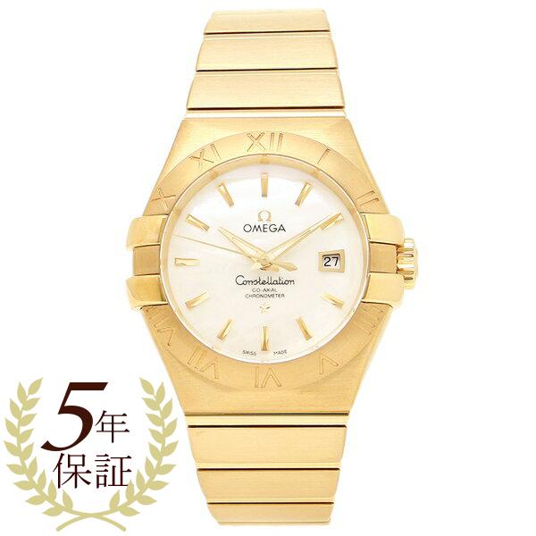OMEGA 腕時計 レディース オメガ 123.50.31.20.05.002 イエローゴールド ホワイトパール