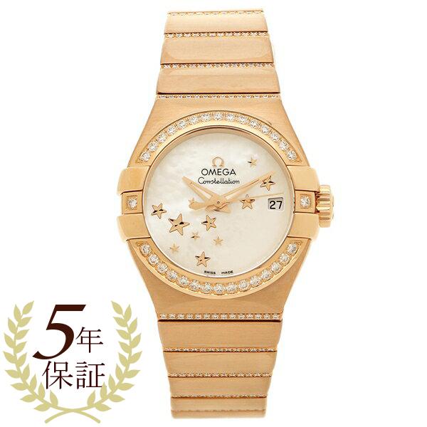 OMEGA 腕時計 レディース オメガ 123.55.27.20.05.004 ローズゴールド ホワイトパール