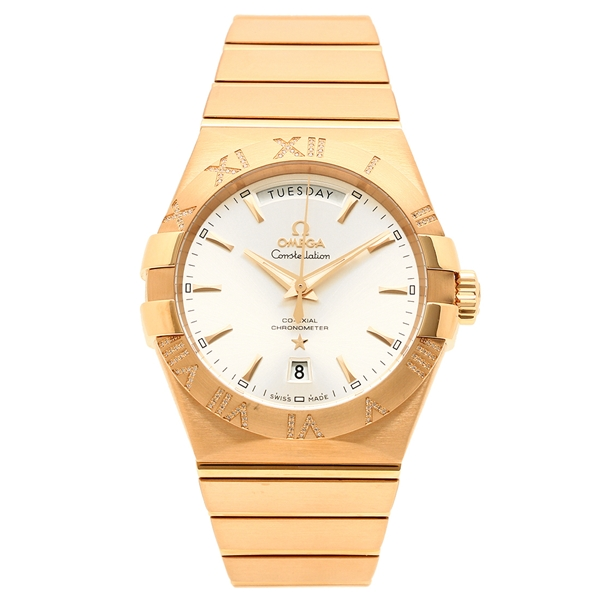 OMEGA 腕時計 メンズ オメガ 123.55.38.22.02.001 ピンクゴールド シルバー