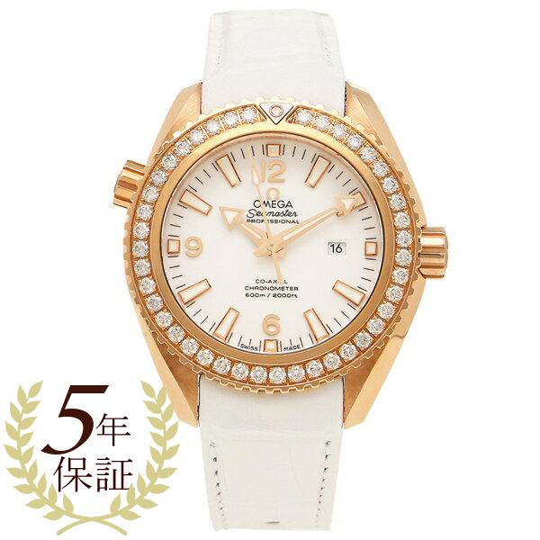 OMEGA 腕時計 レディース オメガ 232.58.38.20.04.001 ホワイト ローズゴールド