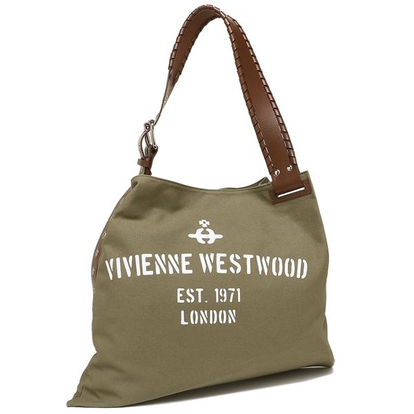 VIVIENNE WESTWOOD トートバッグ レディース/メンズ ヴィヴィアンウエストウッド 42060002 10237 カーキ ホワイト