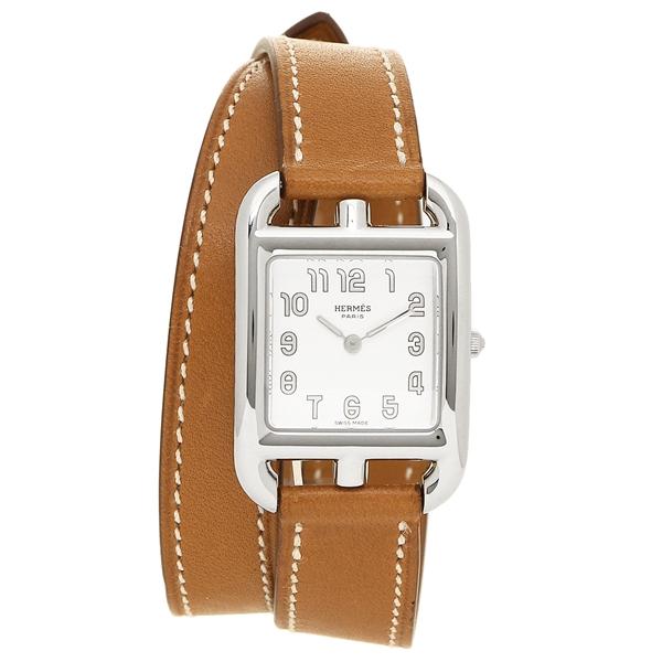 HERMES 腕時計 レディース エルメス CC1.210.220/VBA1 040233WW00 ブラウン シルバー ホワイト