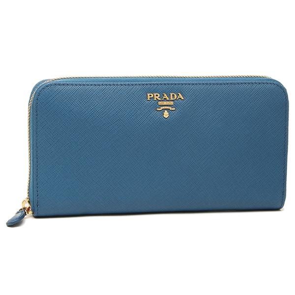 PRADA 長財布 レディース プラダ 1ML506 QWA F0215 ブルー