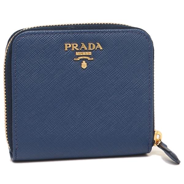 8d47b9edd425 PRADA レディース プラダ 1ML522 QWA F0016 ネイビー 折財布-レディース ...