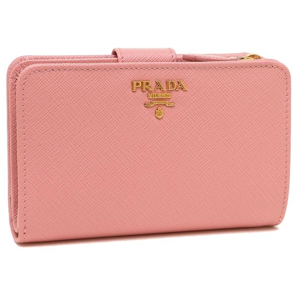 PRADA 折財布 レディース プラダ 1ML225 QWA F0442 ピンク