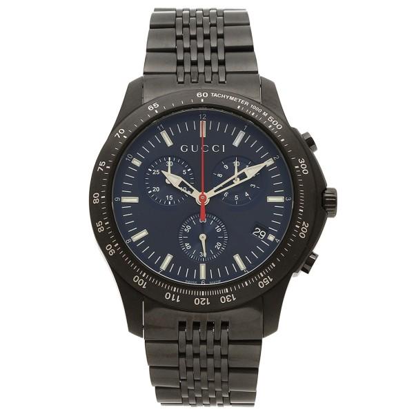 グッチ 時計 メンズ GUCCI YA126259 G-TIMELESS 腕時計 ウォッチ ブラック/ブルー