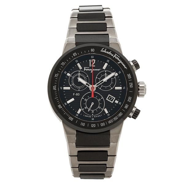 Salvatore Ferragamo 腕時計 メンズ フェラガモ F55030014 ブラック シルバー
