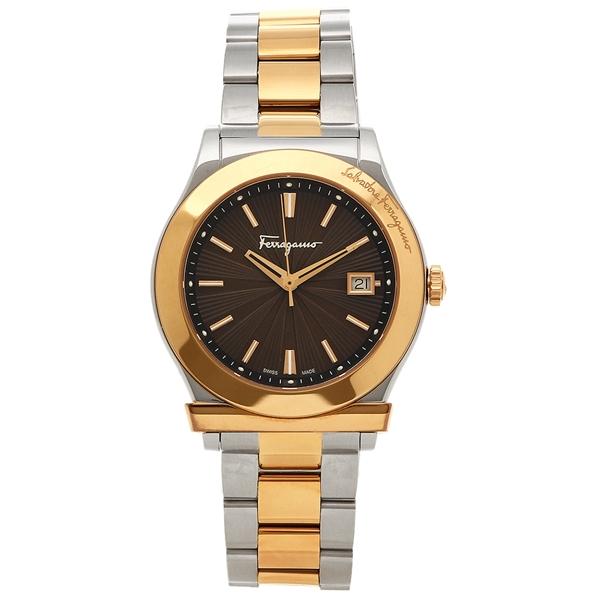 Salvatore Ferragamo 腕時計 メンズ フェラガモ FF3290016 ブラウン ピンクゴールド