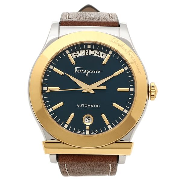 Salvatore Ferragamo 腕時計 メンズ フェラガモ FFQ020016 ターコイズ ブラウン