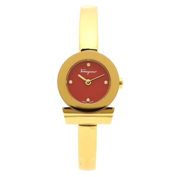 Salvatore Ferragamo 腕時計 レディース フェラガモ FQ5070015 レッド イエローゴールド