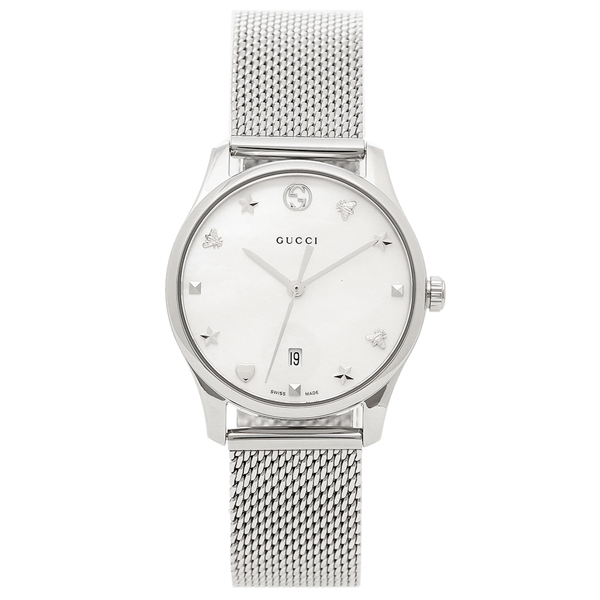 GUCCI 腕時計 レディース グッチ YA126583 ホワイトシェル シルバー