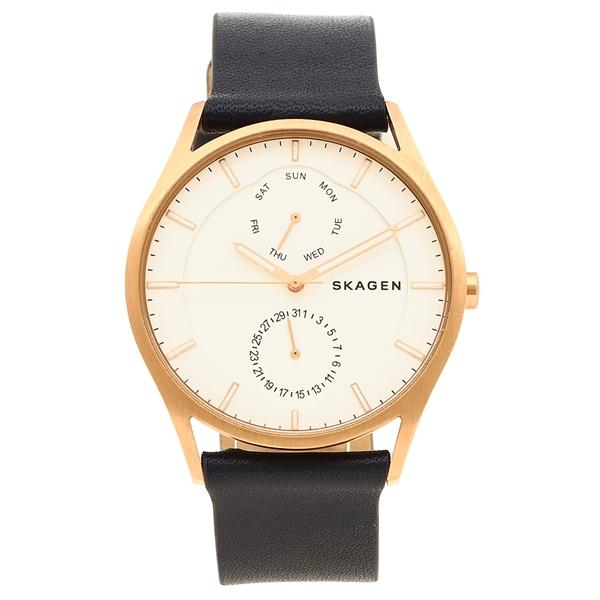 SKAGEN 腕時計 メンズ スカーゲン SKW6372 ネイビーブルー/ホワイト/ピンクゴールド