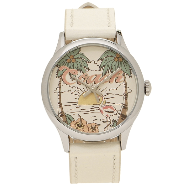 COACH 腕時計 アウトレット レディース コーチ W1546 NLM マルチ シルバー ホワイト
