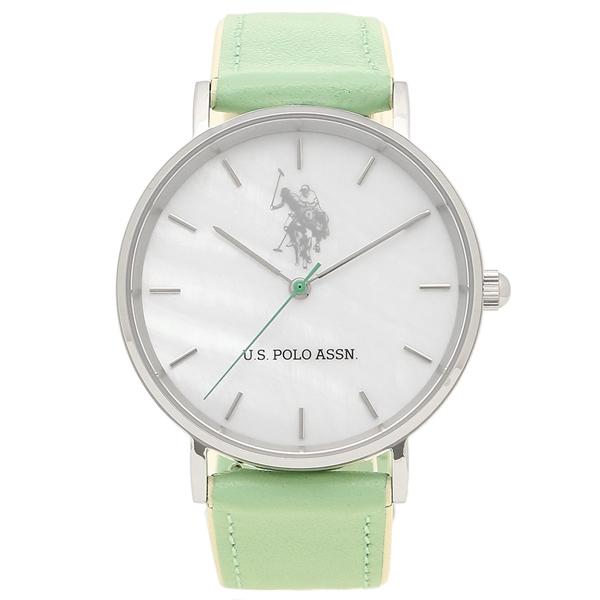 US POLO ASSN 腕時計 レディース メンズ ユーエス ポロ US-1A-GR グリーン ホワイト シルバー