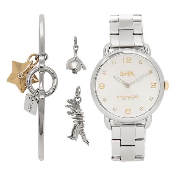 COACH 腕時計 レディース コーチ 14000056 ホワイト シルバー