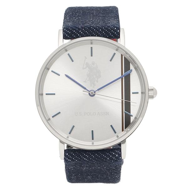 US POLO ASSN 腕時計 メンズ レディース ユーエス ポロ US-1D-BL シルバー ブルー