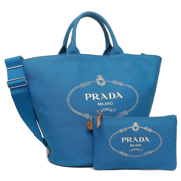 PRADA トートバッグ レディース プラダ 1BG162 ZKI F0013 OOO ブルー