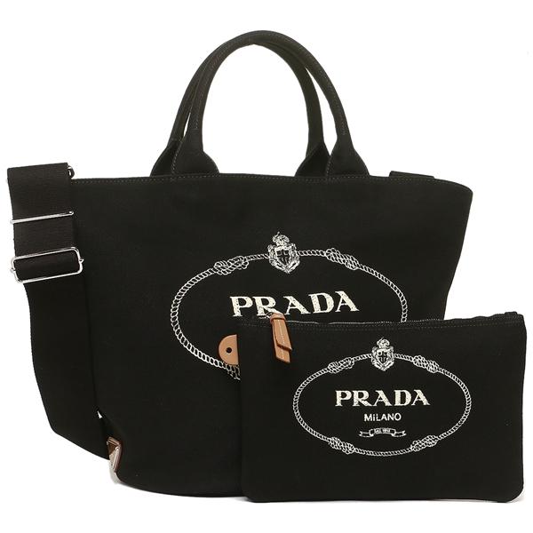PRADA トートバッグ レディース プラダ 1BG163 ZKI F0002 OOO ブラック
