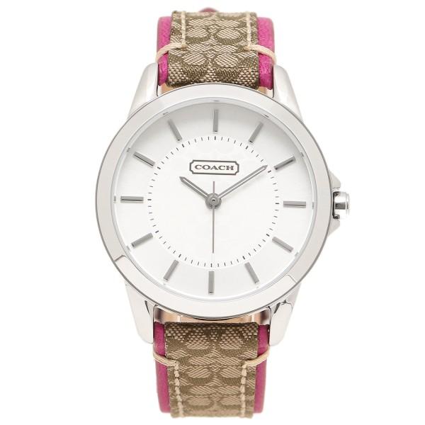 コーチ 時計 レディース COACH 14501543 ニュークラシックシグネチャー シルバー/カーキ/ピンク ウォッチ/腕時計