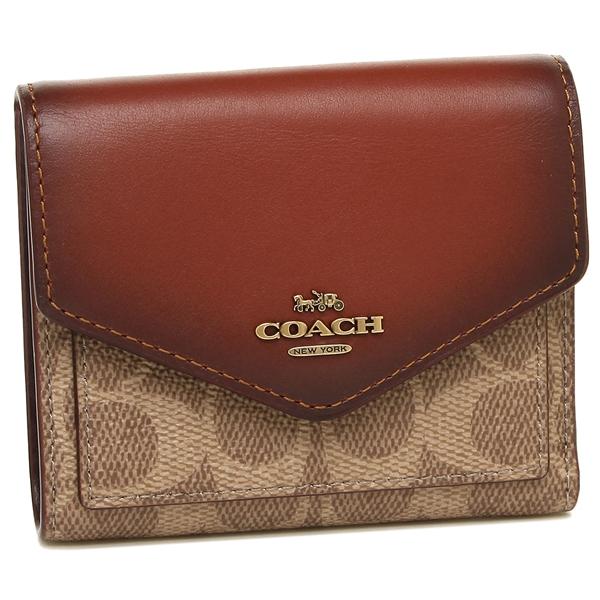 COACH 折財布 レディース コーチ 31548 B4NQ4 ブラウンマルチ