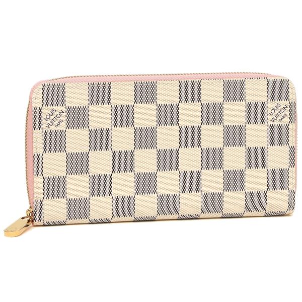 LOUIS VUITTON 長財布 レディース ルイヴィトン N63503 ホワイト ピンク