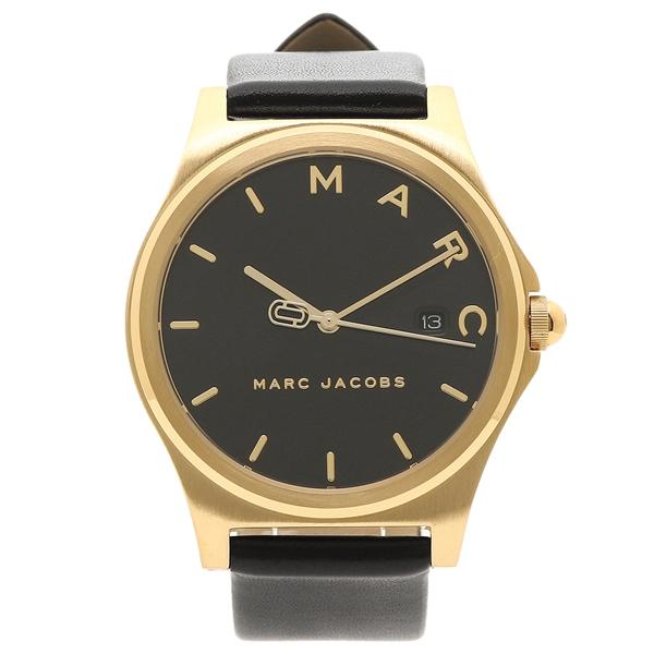MARC JACOBS 腕時計 レディース マークジェイコブス MJ1608 ブラック イエローゴールド