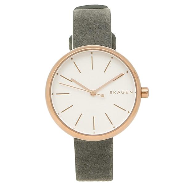 SKAGEN 腕時計 レディース スカーゲン SKW2644 グレー ローズゴールド ホワイト