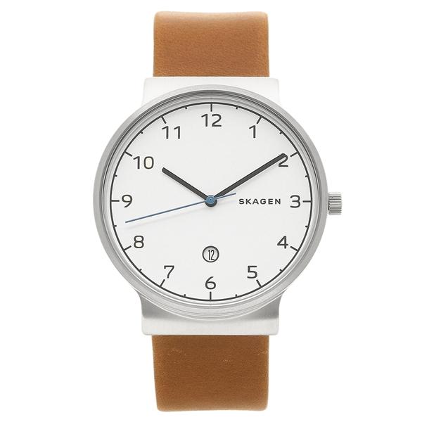 SKAGEN 腕時計 メンズ スカーゲン SKW6433 ブラウン シルバー ホワイト