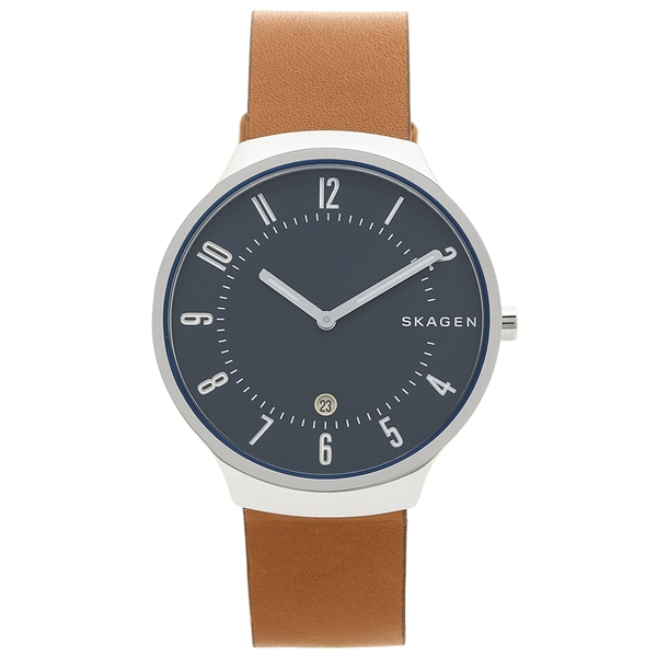 SKAGEN 腕時計 メンズ スカーゲン SKW6457 ブラウン シルバー ネイビーブルー