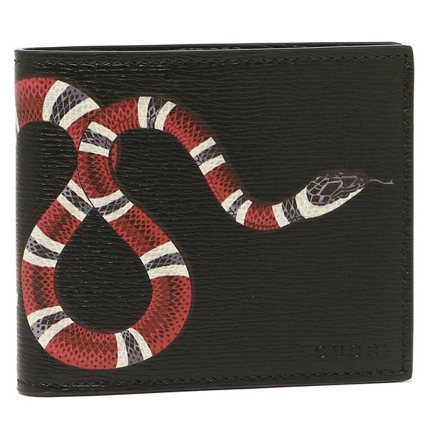 GUCCI 折財布 メンズ グッチ 451268 DUR1T 1058 ブラックマルチ