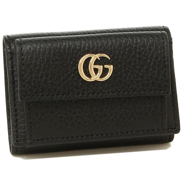 GUCCI 折財布 レディース グッチ 523277 CAO0G 1000 ブラック