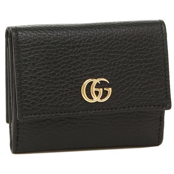 GUCCI 折財布 レディース グッチ 524672 CAO0G 1000 ブラック