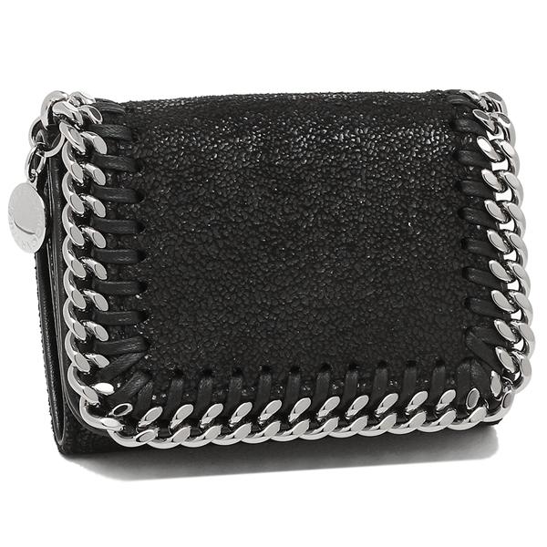 STELLA McCARTNEY 三つ折り財布 レディース ステラマッカートニー 521371 W9132 1000 ブラック シルバー