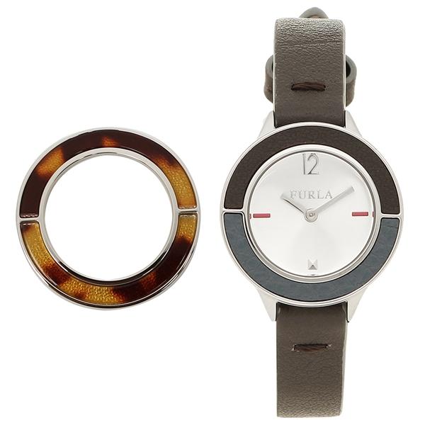 FURLA 腕時計 レディース 替えベゼル付き フルラ R4251109520 シルバー ブラウン
