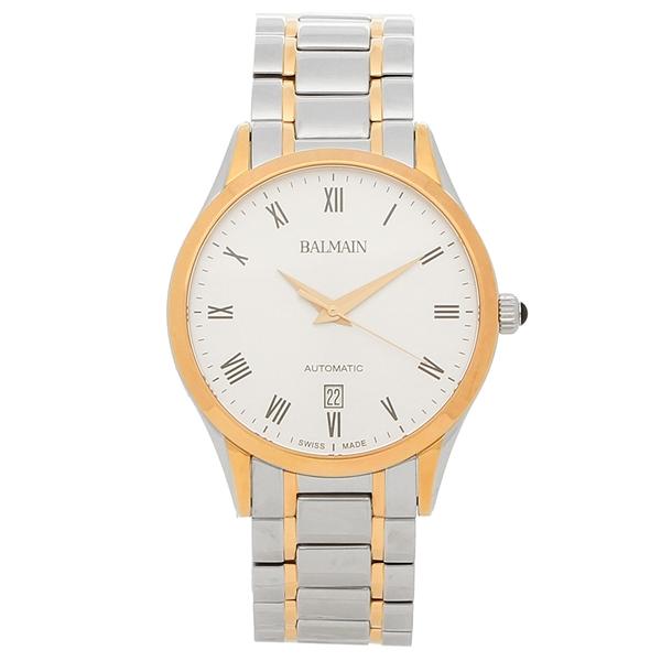 BALMAIN 腕時計 自動巻き メンズ バルマン B1448.33.22 ピンクゴールド シルバー