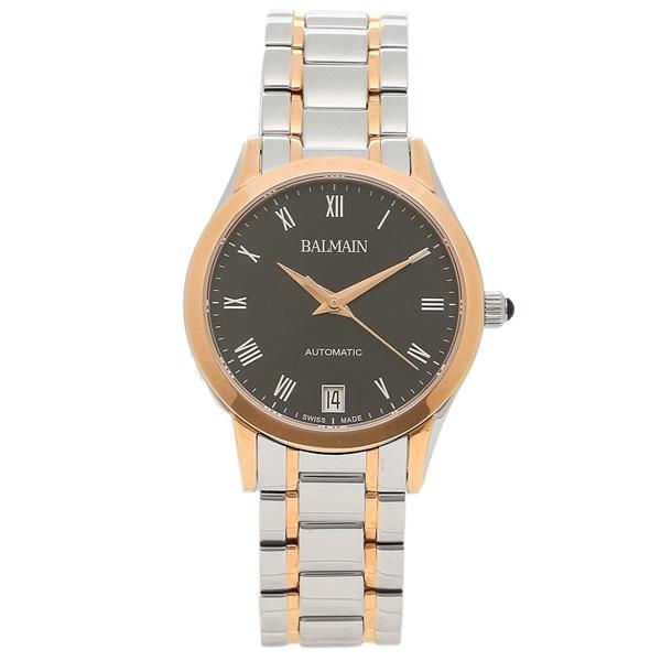 BALMAIN 腕時計 自動巻き レディース バルマン B4458.33.62 シルバー ピンクゴールド ブラック