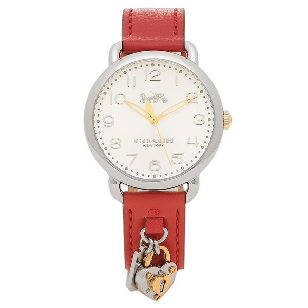 COACH 腕時計 レディース コーチ 14502970 レッド シルバー