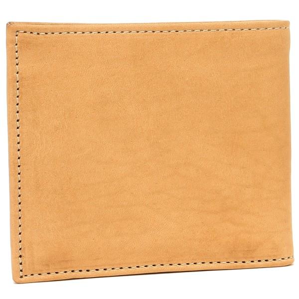 c9dfbe9c57b0 IL BISONTE イルビゾンテ 二つ折り財布 レディース レザー 120 NATURAL/GOLD ナチュラル/ゴールド C0487P- レディース財布