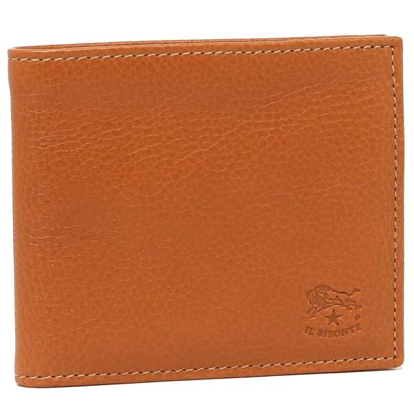 IL BISONTE イルビゾンテ C0487P 二つ折り財布 レディース レザー 145 BROWN/GOLD ブラウン/ゴールド