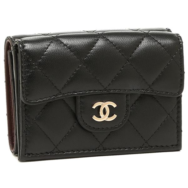 CHANEL 折財布 レディース シャネル A84401 Y04059 C3906 ブラック