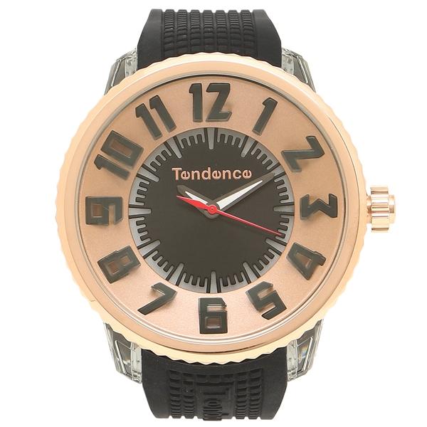 TENDENCE 腕時計 レディース/メンズ テンデンス TY532002 ブラック ローズゴールド
