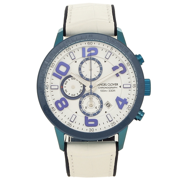 ANGEL CLOVER 腕時計 メンズ エンジェルクローバー LU44BNV-WH ホワイト ブルー