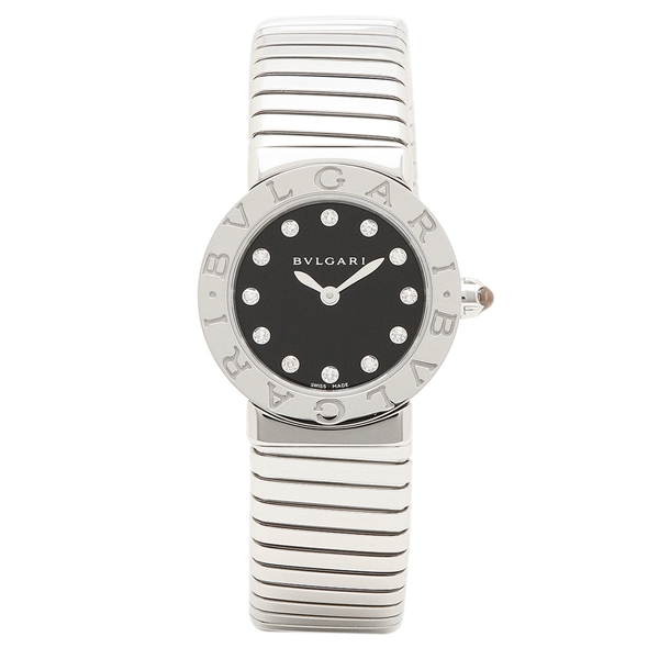BVLGARI 腕時計 レディース ブルガリ BBL262TBSS/12.M ブラック シルバー