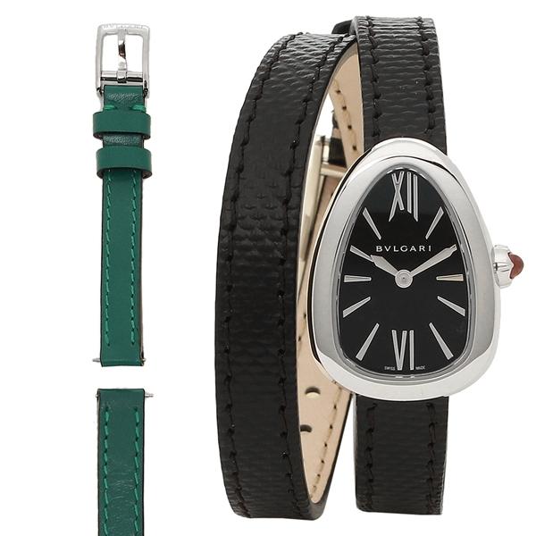 BVLGARI 腕時計 レディース ブルガリ SPS27BSL ブラック シルバー