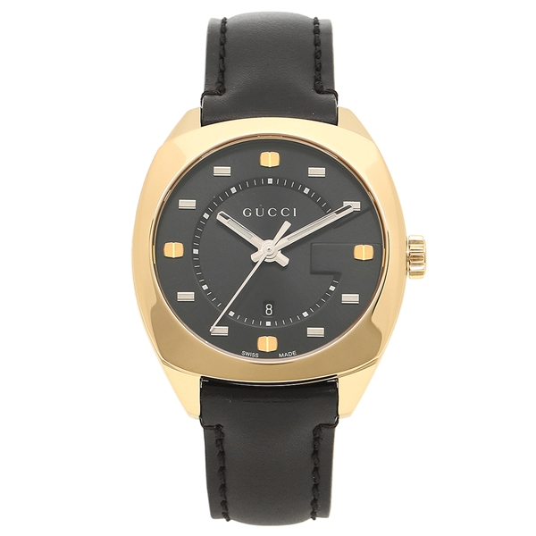 GUCCI 腕時計 メンズ グッチ YA142408 ブラック イエローゴールド